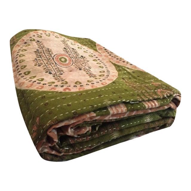 Boho Chic Vintage Kantha Quilt - Image 1 of 4