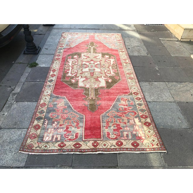 Tribal Turkish Carpet For Sale - Image 11 of 11