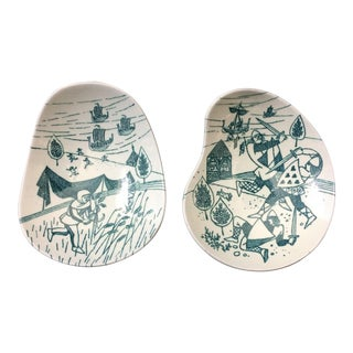 Nymølle Art Faience Limited Edition Small Dishes - a Pair For Sale