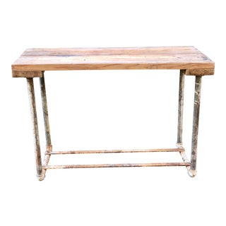 Antique Butcher Block Butchers Table For Sale