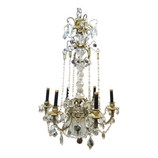 Early 20th Century Antique French Louis XVI Style Gilt Bronze Chandelier