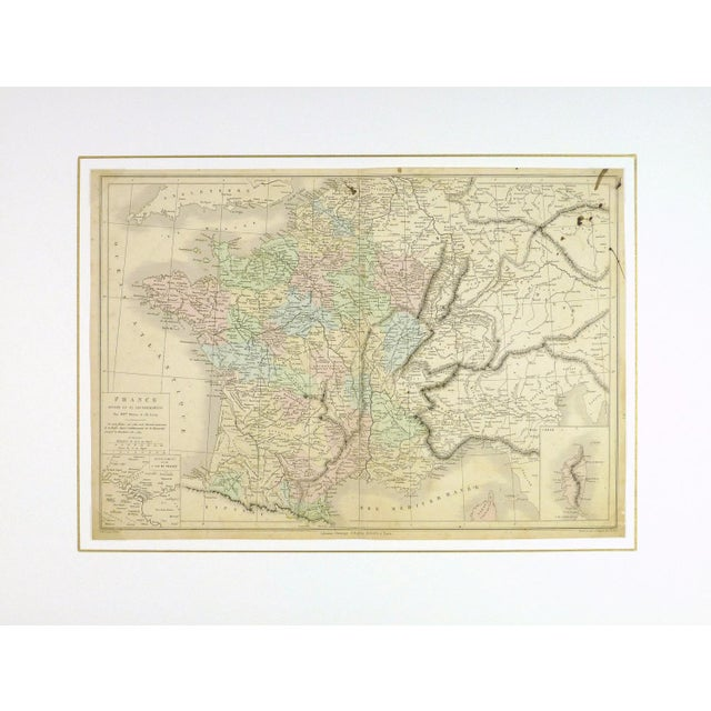 Antique Map of France, 1860 - Image 3 of 4