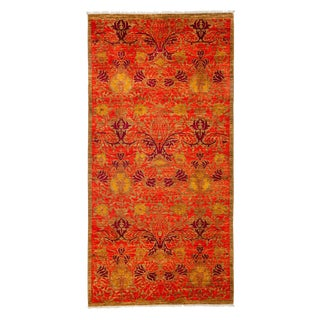 """Arts & Crafts, Hand Knotted Area Rug - 4'3"""" X 8'4"""" For Sale"""