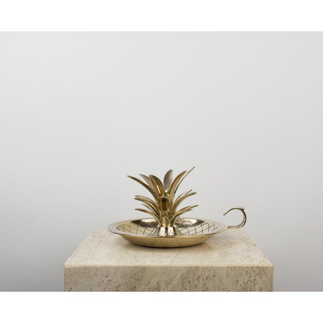 Vintage brass pineapple candlestick holder / lamp. Recently cleaned and hand polished. Perfect decorative piece for...