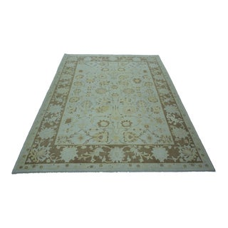 Turkish Anatolian Modern & Decorative Oushak Rug - 7′1″ × 9′4″