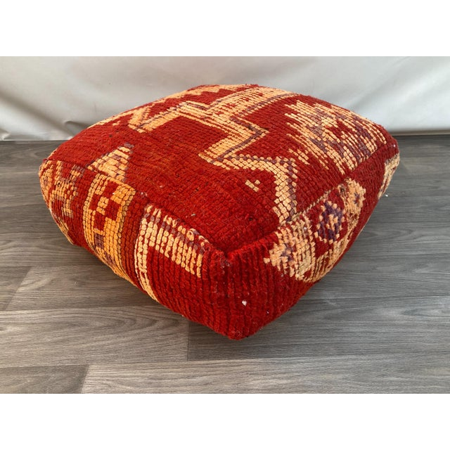 1980s Vintage Moroccan Pouf Cover For Sale - Image 13 of 13