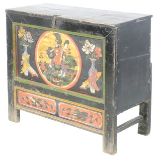 "19th Century Chinese Mongolian 37"" Wide Cabinet/Chest/Trunk For Sale"