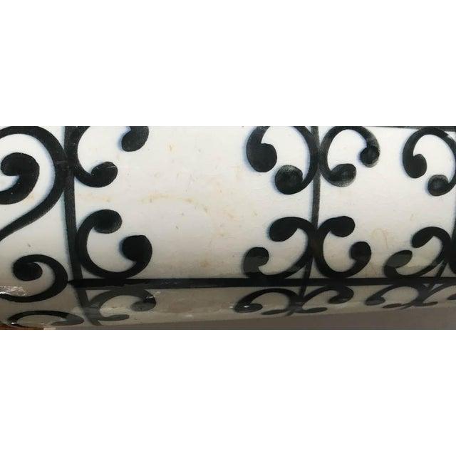 Mid Century Spanish Ceramic Umbrella Stand, Vase For Sale - Image 4 of 6