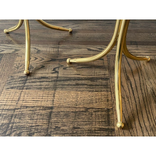 1950s Cesare Lacca Brass and Glass Drinks Tables - a Pair For Sale In New York - Image 6 of 11