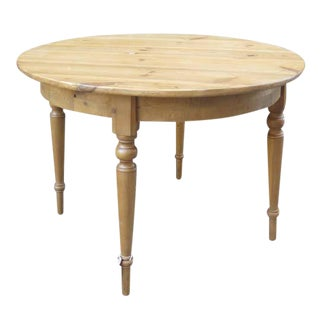 Antique Swedish Round Dining Table For Sale