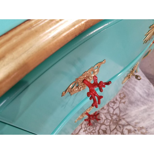 Italian Solid Cherry Chest of Drawers / Console For Sale In Greensboro - Image 6 of 10