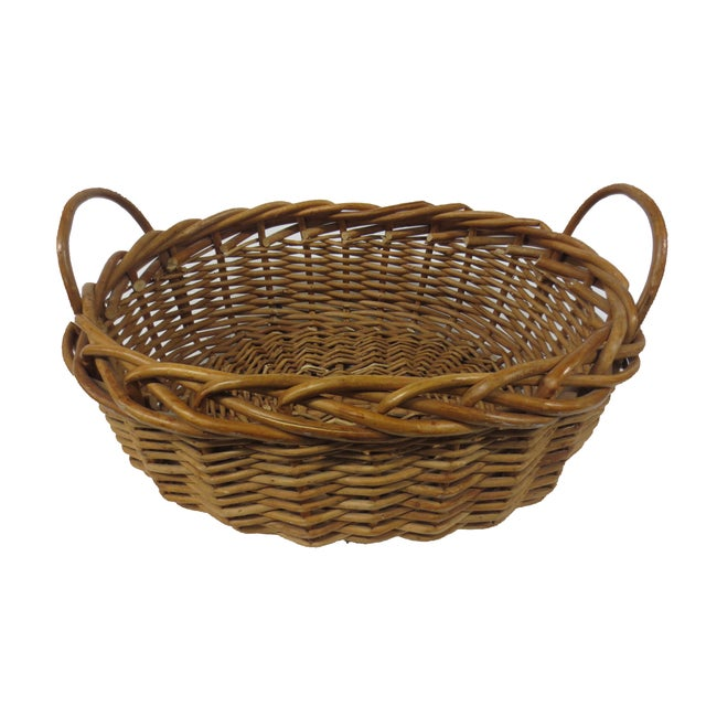 Giant Oversize Braided Willow Basket - Image 1 of 9
