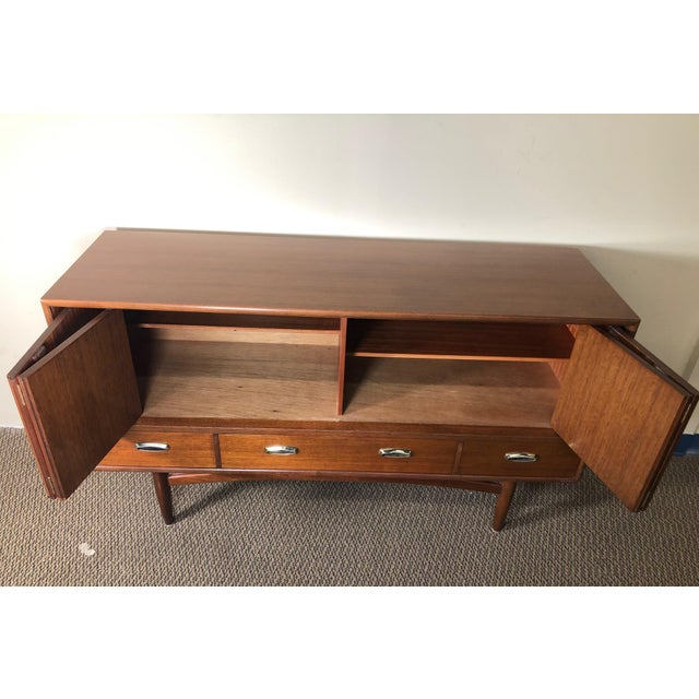 Mid-Century Modern Midcentury Mahogany Credenza Sideboard With Metal Pulls by G Plan For Sale - Image 3 of 13