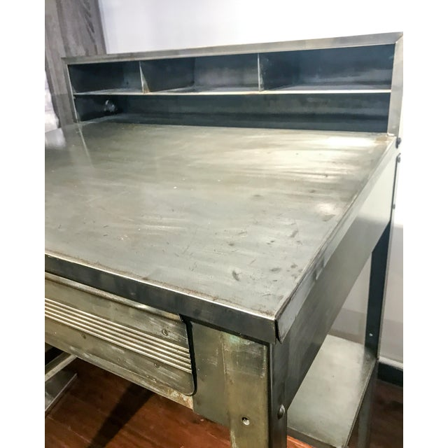 Metal 1970s Industrial Metal Shipping and Receiving Desk For Sale - Image 7 of 8