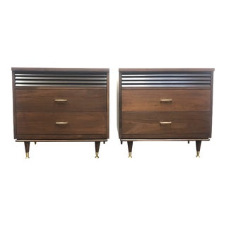 Mid-Century Three Drawer Chests - a Pair For Sale