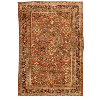 Antique Persian Mahal Sultanabad Carpet For Sale