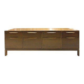 Jens Risom 75w Walnut Veneer Credenza For Sale