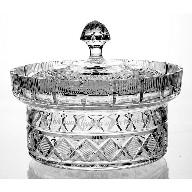 Transparent Waterford Crystal Centerpiece Bowl & Lid For Sale - Image 8 of 8