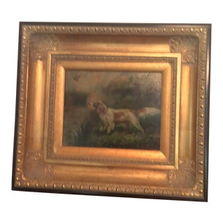 English Hunting Spaniels Painting For Sale