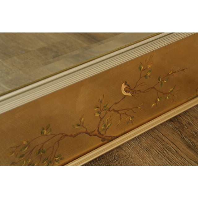 LaBarge Gold Chinoiserie Eglomise Reverse Painted Mirror For Sale - Image 9 of 13