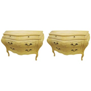 Louis XV-Style Bombe Commodes - A Pair For Sale