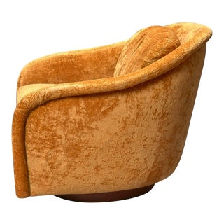 Swivel Tub Chair by Milo Baughman for Thayer Coggin For Sale