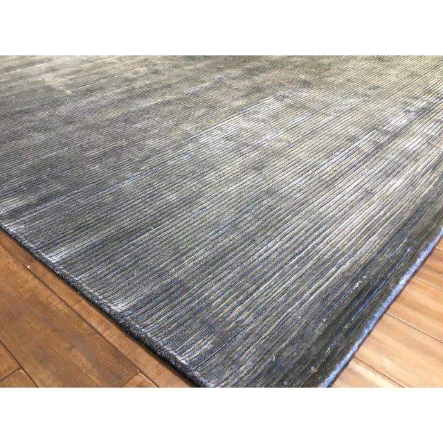 2010s Contemporary Striped Gray Rug (12x15) For Sale - Image 5 of 6