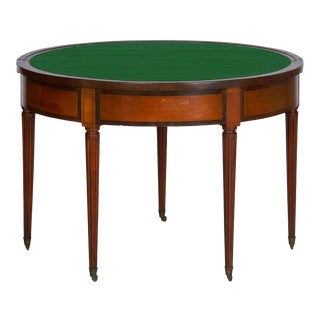 19th Century Neoclassical Antique Fruitwood Card Games Accent Table W/ Triple Top For Sale