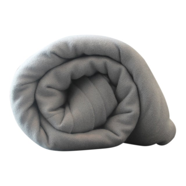 Matouk Throw in Silver For Sale