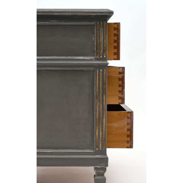 Antique Louis XVI Style Gray Painted Chest For Sale In Austin - Image 6 of 10