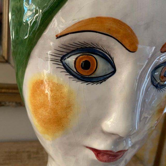 Ceramic 1960s Vintage Italian Ceramic Head Vase For Sale - Image 7 of 10