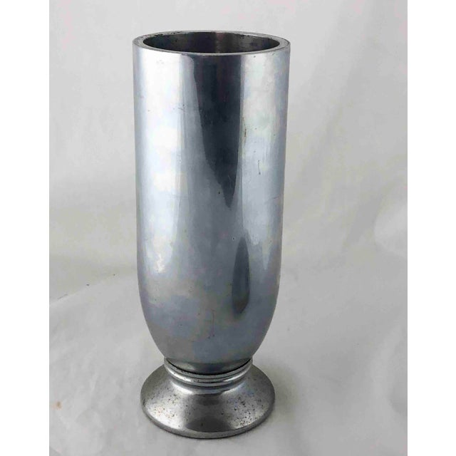 Platinum 1930's Rare Aluminum Tall Cocktail Shaker For Sale - Image 8 of 13
