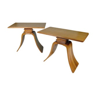 "Classic Paul Frankl ""Bell"" Side Tables for Brown Saltman, Pair For Sale"