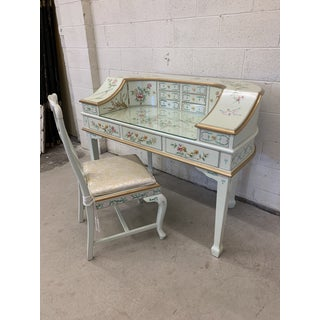 Jasper Cabinet Company Hand Painted Chinoiserie Desk Vanity & Chair Preview