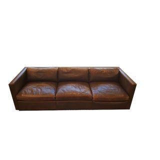 Knoll Pfister Authentic Mid-Century Modern Leather Sofa