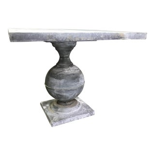 20th Century Contemporary Zinc Center Table For Sale