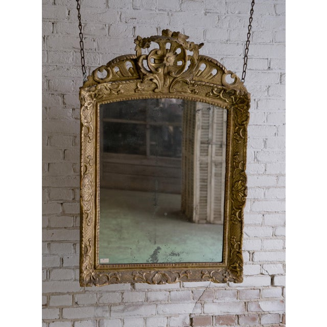 Traditional 18th Century Mirror, Régence Giltwood For Sale - Image 3 of 12