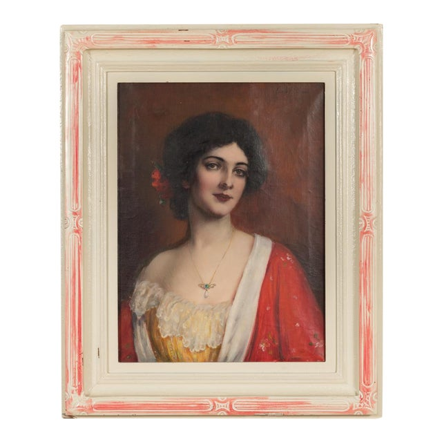 Spanish Model Oil Painting by Carle J. Blenner - Image 1 of 10