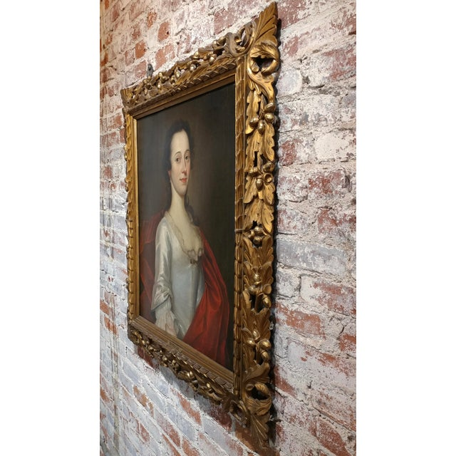 Brown 18th Century Portrait of an English Aristocratic Woman -Oil Painting For Sale - Image 8 of 10