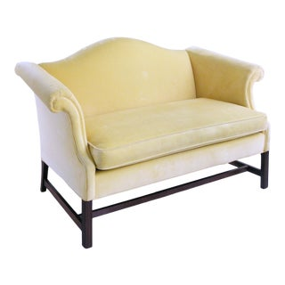 1960s Vintage Hollywood Regency Settee Chippendale Style Sofa For Sale