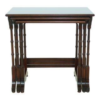 Ethan Allen Cherry 3 Table Nesting Tables For Sale