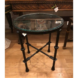 Art Deco Style Wrought Iron Side Table by Murray's Iron Works Preview