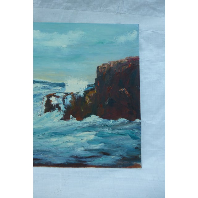 MCM Painting of Turbulent Waves h.l. Musgrave - Image 5 of 6