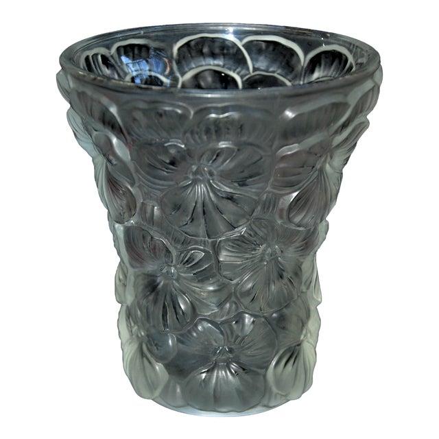 Vintage Czechoslovakian Barolac Pansy Vase Chairish