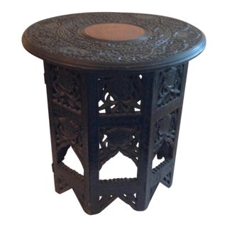 Anglo-Indian Hardwood Travel Tabouret