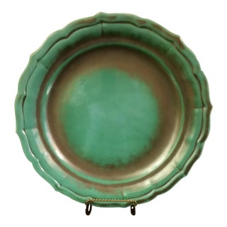 Swedish Art Deco Turquoise Serving Plate For Sale