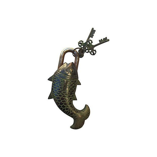 Tibetian Mystery Koi Fish Lock - Image 4 of 4