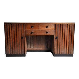 British Colonial Art Deco Sideboard For Sale