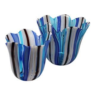 Venini - Fazzoletto Handkerchief Vases by Venini For Sale