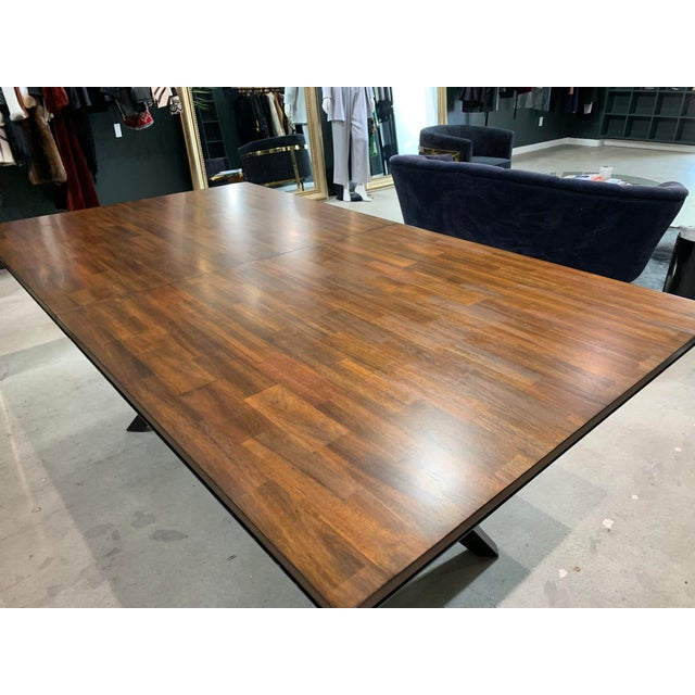 Mid-Century Modern Walnut Dining Table For Sale - Image 4 of 8